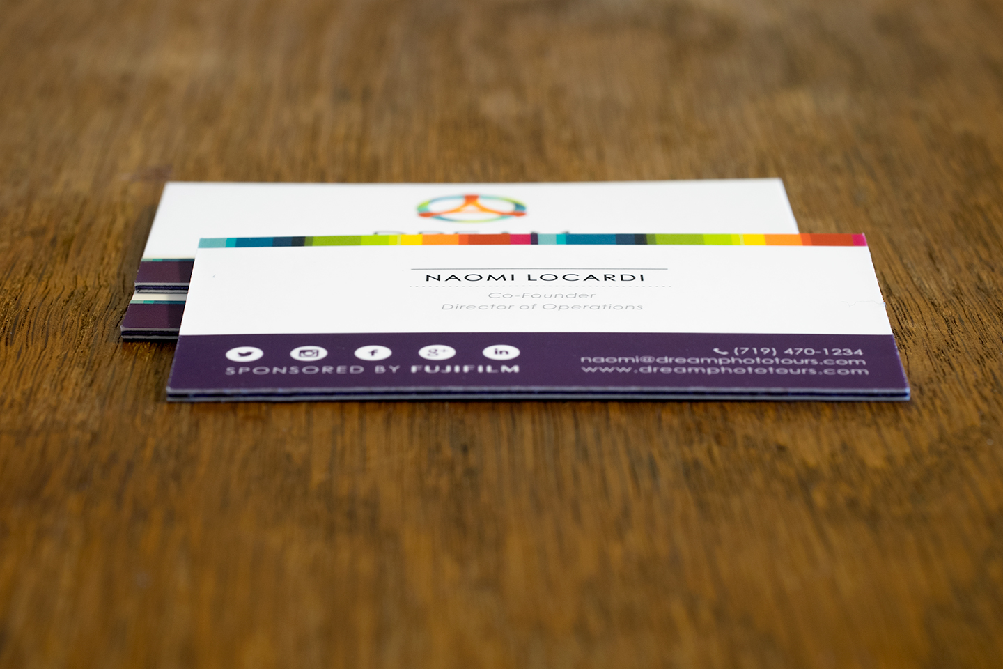 Unique dream business card design from jukeboxprint jukebox offers a wide range of paper colours for the inside and can even use multiple colours to create a pattern for the middle layer reheart Choice Image